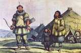 Chukchi, or Chukchee are an indigenous people inhabiting the Chukchi Peninsula and the shores of the Chukchi Sea and the Bering Sea region of the Arctic Ocean within the Russian Federation. They speak the Chukchi language. The Chukchi originated from the people living around the Okhotsk Sea.